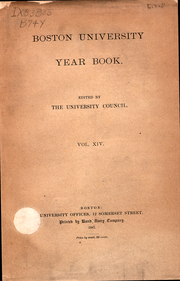 Page 1, 1887 Edition, Boston University - HUB Yearbook (Boston, MA) online yearbook collection