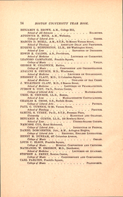 Page 16, 1887 Edition, Boston University - HUB Yearbook (Boston, MA) online yearbook collection