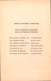 Page 8, 1887 Edition, Boston University - HUB Yearbook (Boston, MA) online yearbook collection