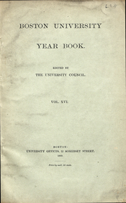 Boston University - HUB Yearbook (Boston, MA) online yearbook collection, 1889 Edition, Page 1