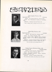Page 22, 1921 Edition, Boston University - HUB Yearbook (Boston, MA) online yearbook collection