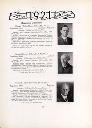 Page 23, 1921 Edition, Boston University - HUB Yearbook (Boston, MA) online yearbook collection