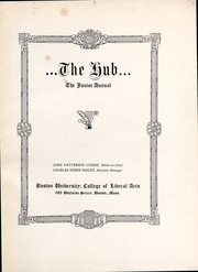 Page 3, 1921 Edition, Boston University - HUB Yearbook (Boston, MA) online yearbook collection