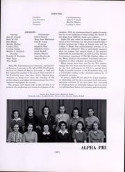 Page 209, 1942 Edition, Boston University - HUB Yearbook (Boston, MA) online yearbook collection