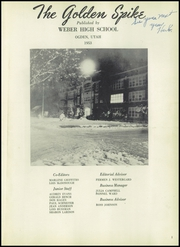 Page 5, 1953 Edition, Weber County High School - Golden Spike Yearbook (Ogden, UT) online yearbook collection