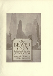 Page 9, 1923 Edition, Oregon State University - Beaver Yearbook (Corvallis, OR) online yearbook collection