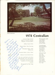 Page 5, 1978 Edition, Central High School - Centralian Yearbook (Phoenix, AZ) online yearbook collection