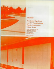 Page 5, 1982 Edition, Thunderbird High School - Warrior Yearbook (Phoenix, AZ) online yearbook collection