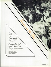 Page 3, 1982 Edition, Corona Del Sol High School - Sunset Yearbook (Tempe, AZ) online yearbook collection