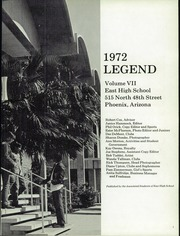 Page 5, 1972 Edition, East High School - Legend Yearbook (Phoenix, AZ) online yearbook collection
