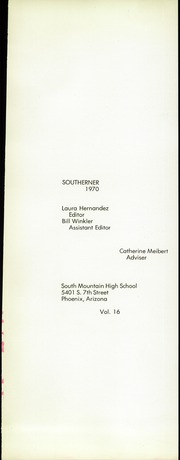 Page 5, 1970 Edition, South Mountain High School - Southerner Yearbook (Phoenix, AZ) online yearbook collection