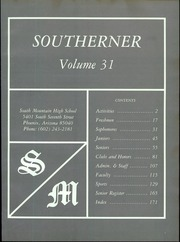 Page 5, 1985 Edition, South Mountain High School - Southerner Yearbook (Phoenix, AZ) online yearbook collection