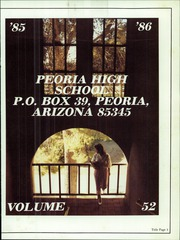 Page 5, 1986 Edition, Peoria High School - Panther Yearbook (Peoria, AZ) online yearbook collection