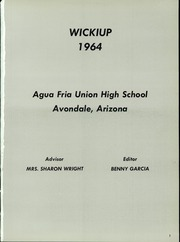 Page 5, 1964 Edition, Agua Fria Union High School - Wickiup Yearbook (Avondale, AZ) online yearbook collection