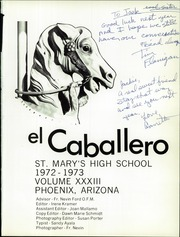 Page 5, 1973 Edition, St Marys Catholic High School - El Caballero Yearbook (Phoenix, AZ) online yearbook collection