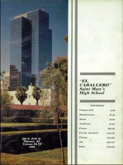 Page 5, 1986 Edition, St Marys Catholic High School - El Caballero Yearbook (Phoenix, AZ) online yearbook collection