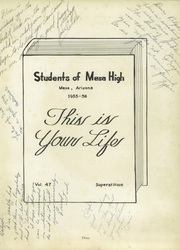 Page 7, 1956 Edition, Mesa High School - Superstition Yearbook (Mesa, AZ) online yearbook collection