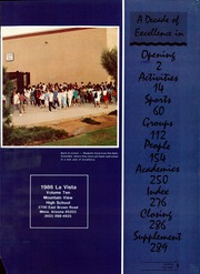 Page 5, 1986 Edition, Mountain View High School - La Vista Yearbook (Mesa, AZ) online yearbook collection