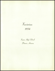 Page 5, 1954 Edition, Xavier High School - Xavierian Yearbook (Phoenix, AZ) online yearbook collection