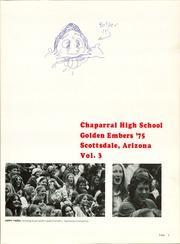 Page 5, 1975 Edition, Chaparral High School - Golden Embers Yearbook (Scottsdale, AZ) online yearbook collection