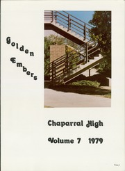 Page 5, 1979 Edition, Chaparral High School - Golden Embers Yearbook (Scottsdale, AZ) online yearbook collection