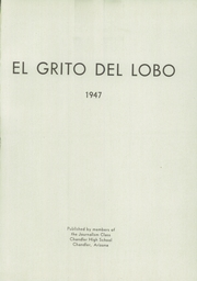 Page 5, 1947 Edition, Chandler High School - El Lobo Yearbook (Chandler, AZ) online yearbook collection