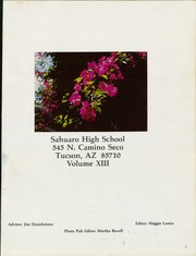 Page 5, 1981 Edition, Sahuaro High School - Viva Yearbook (Tucson, AZ) online yearbook collection