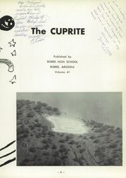 Page 7, 1957 Edition, Bisbee High School - Cuprite Yearbook (Bisbee, AZ) online yearbook collection