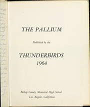 Page 5, 1964 Edition, Bishop Conaty Memorial High School - Pallium Yearbook (Los Angeles, CA) online yearbook collection