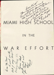 Page 7, 1943 Edition, Miami High School - Concentrator Yearbook (Miami, AZ) online yearbook collection