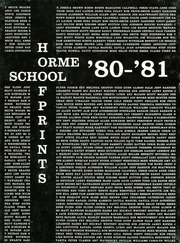 1981 Edition, Orme School - Hoofprints Yearbook (Mayer, AZ)