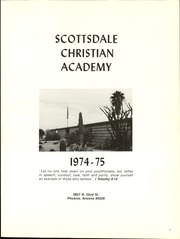 Page 5, 1975 Edition, Scottsdale Christian High School - Yearbook (Phoenix, AZ) online yearbook collection
