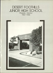 Page 5, 1988 Edition, Desert Foothills Middle School - Scorpion Yearbook (Phoenix, AZ) online yearbook collection