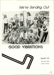 Page 5, 1982 Edition, Fees Middle School - Firebirds Yearbook (Tempe, AZ) online yearbook collection
