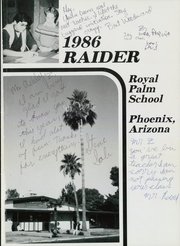 Page 5, 1986 Edition, Royal Palm Middle School - Raiders Yearbook (Phoenix, AZ) online yearbook collection