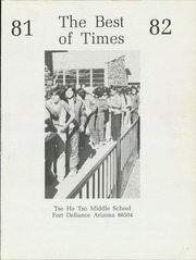 Page 5, 1982 Edition, Tse Ho Tso Middle School - Best of Times Yearbook (Fort Defiance, AZ) online yearbook collection