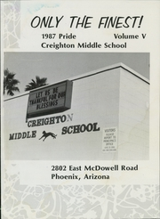 Page 5, 1987 Edition, Creighton Middle School - Pride Yearbook (Phoenix, AZ) online yearbook collection