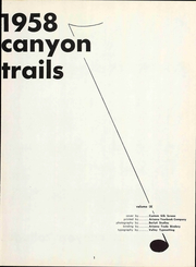 Page 7, 1958 Edition, Grand Canyon University - Canyon Trails Yearbook (Phoenix, AZ) online yearbook collection
