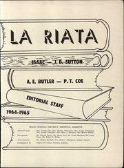 Page 5, 1965 Edition, Isaac School District - La Riata Yearbook (Phoenix, AZ) online yearbook collection