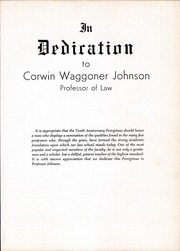 Page 11, 1958 Edition, University of Texas Law School - Peregrinus Yearbook (Austin, TX) online yearbook collection