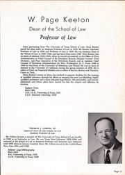 Page 15, 1958 Edition, University of Texas Law School - Peregrinus Yearbook (Austin, TX) online yearbook collection