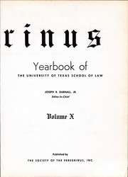 Page 7, 1958 Edition, University of Texas Law School - Peregrinus Yearbook (Austin, TX) online yearbook collection