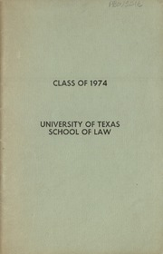 University of Texas School of Law - Peregrinus Yearbook (Austin, TX) online yearbook collection, 1974 Edition, Page 1