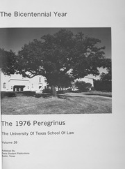 Page 5, 1976 Edition, University of Texas School of Law - Peregrinus Yearbook (Austin, TX) online yearbook collection