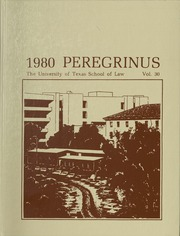 University of Texas School of Law - Peregrinus Yearbook (Austin, TX) online yearbook collection, 1980 Edition, Page 1