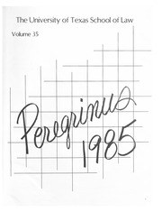 Page 5, 1985 Edition, University of Texas School of Law - Peregrinus Yearbook (Austin, TX) online yearbook collection
