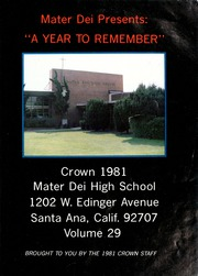 Page 3, 1981 Edition, Mater Dei High School - Crown Yearbook (Santa Ana, CA) online yearbook collection