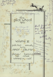 Page 5, 1932 Edition, Phineas Banning High School - Pilot Wheel Yearbook (Wilmington, CA) online yearbook collection