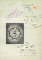 Page 7, 1935 Edition, Phineas Banning High School - Pilot Wheel Yearbook (Wilmington, CA) online yearbook collection