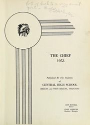Page 7, 1953 Edition, Central High School - Chief Yearbook (West Helena, AR) online yearbook collection
